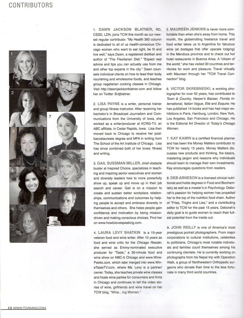 TCW March '11 Contributors Page